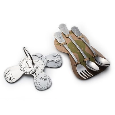Safari Friends Gift Set - Kleynimals and Safari Friends Baby Flatware