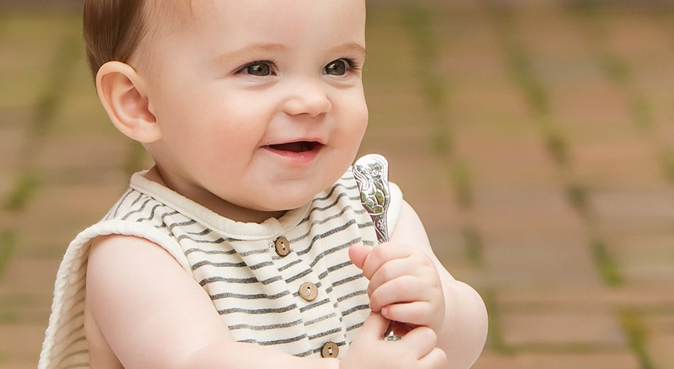 Baby with Kleynimals Utensil